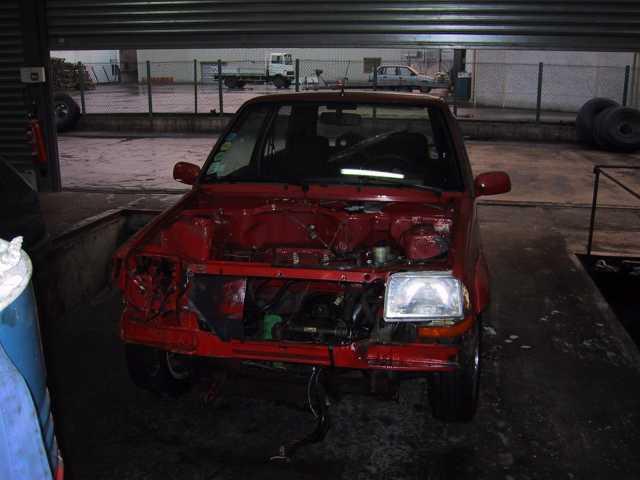 Renault Super 5 GT Turbo moteur démonté