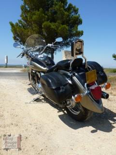 Sacoches et SiSi barre sur Yamaha Dragstar