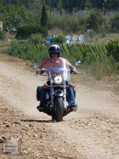 Essai route du Yamaha 1100 Dragstar (votre serviteur en action !)