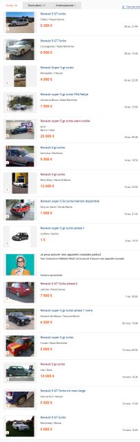 Annonces Voitures d'occasion Renault 5 GT Turbo dans toute la France - leboncoin.fr 2016-05-01 15-02-12